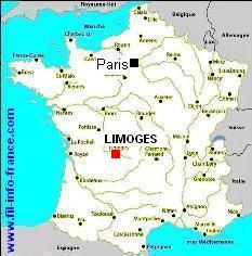 limoges carte de france-