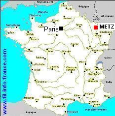 carte de france metz - Image
