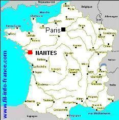nantes carte de france - Photo