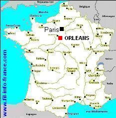 carte de france orleans