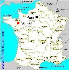 rennes sur la carte de france-